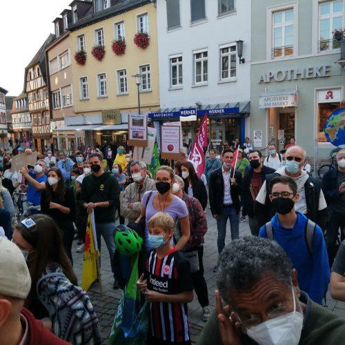 17.9.21 weltweit Demos für Klimaschutz - wir waren auch dabei.